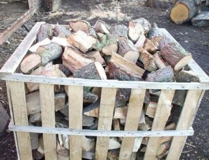 Turney's Firewood in a basket