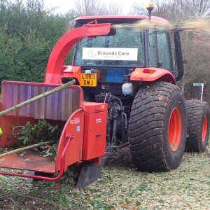 Unimog with '8' front mounted wood chipper 2 ton rear mounted